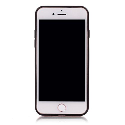 Voguecase Pour Apple iPhone 7 4,7, [TPU+PC]Coque de protection double couche pour Apple iPhone 6/6S 5,5, Absorption des chocs améliorée, Ajustement Parfait Coque Shell Housse Cover (2 in 1-Rouge)+ Gra 2 in 1-Violet
