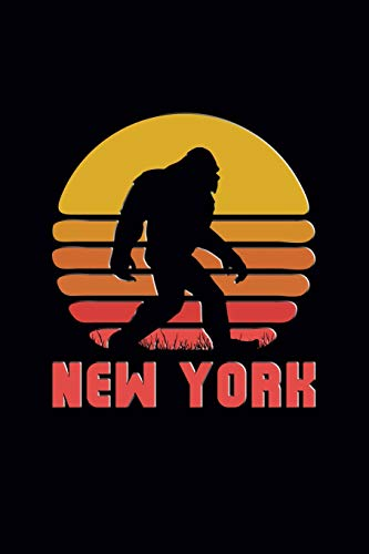 New York: Bigfoot themed journal with names of States in America. (Bigfoot In York New)