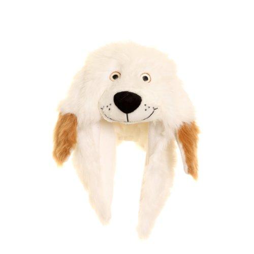 mütze / Wintermütze Hund mit Ohren (One Size) (Weiß) ()