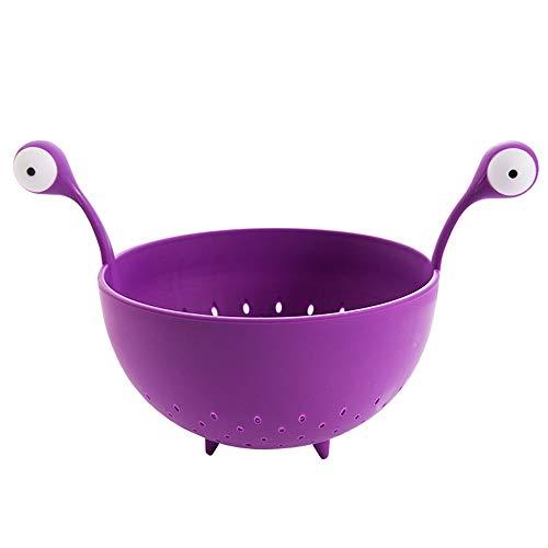 AMYHY Kleines Monster Augen Große Salatschüssel, Servierschale, Obstschale, Keksdose, Dekorative Center Bowl (Color : Purple)