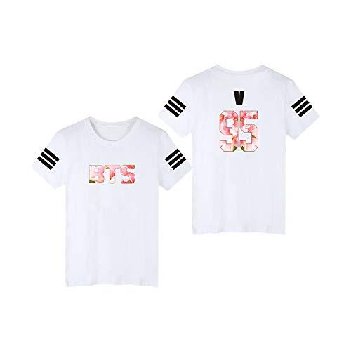 BTS T-Shirt Frauen/Männer Fans Unterstützung Kurzarm O-Neck Tee Tops white21a 4XL