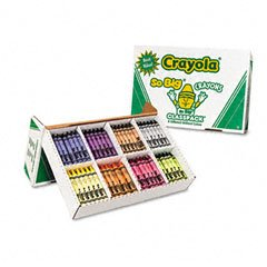 Jumbo Classpack Crayons, 25 Each of 8 Colors, 200/Box