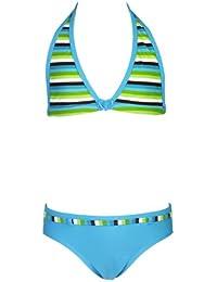 Landora® Mädchen Triangel Bikini in grün/türkis -- Oeko-Tex® Standard 100