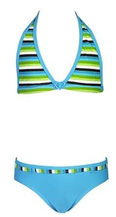 Landora® Mädchen Triangel Bikini in türkis -- Oeko-Tex® Standard 100 Größe 128