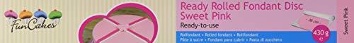 FunCakes Ausgerollte Rollfondant Disc rosa -Sweet pink, 1er Pack (1 x 430 g)