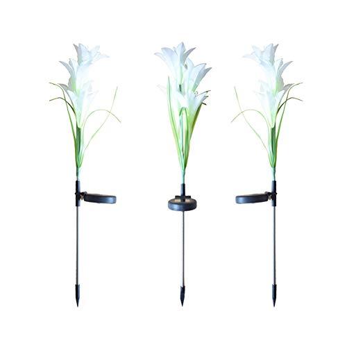 Symboat 2 Stück LED Simulation Blume Licht Solarleuchte Dekoration für Garten Außen Patio