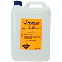 Acido de baterías. Envase de 5 litros.