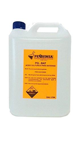 Usado, Acido de baterías. Envase de 5 litros. segunda mano  Se entrega en toda España