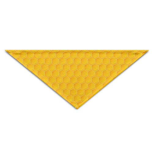 Gxdchfj Delicate Honeycomb Triangle Pet Scarf Dog Bandana Pet Collars Dog Cat - Birthday - Honeycomb Seide