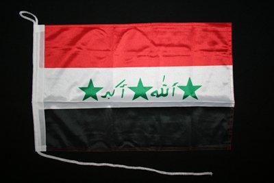 Motorrad-/Bootsflagge 25x40cm: Irak (1991-2008)