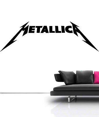 Preisvergleich Produktbild Große Metallica Metal Rock Logo Art Wand sticker Aufkleber Vinyl Schlafzimmer Wandbild, schwarz, Large - (w) 120cm x (h) 37cm