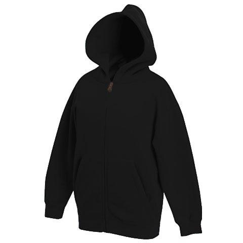fruit-of-the-loom-childrens-zip-through-hooded-sweatshirt-black-age-7-8