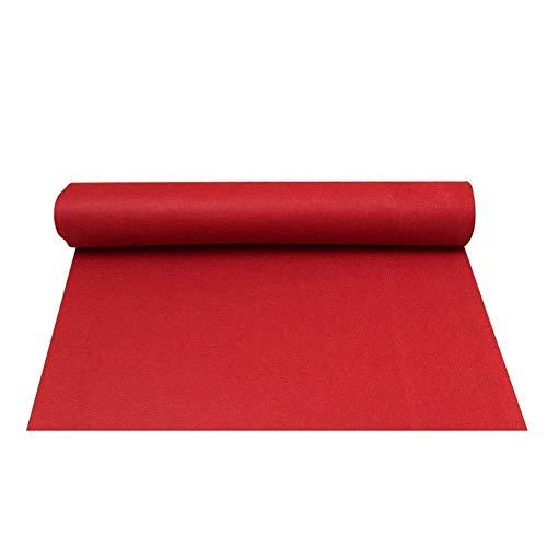 Hochzeit Gang Läufer Roter Teppich rutschfeste Abnutzung Und Soft Touch Hollywood Motto Party, Dicke 1 Mm / 1,5 Mm / 2 Mm / 3 Mm (Color : Thickness 1.5mm, Size : 1m x 20m) - Rot Gang Hochzeit Läufer