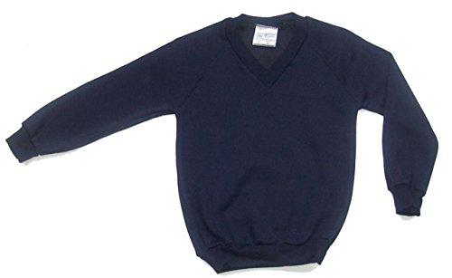 Skooleez School Uniform, maglione di lana con scollatura a V Navy 5 anni