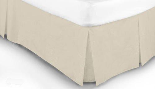 Mantovana vestiletto pieghettata, in policotone, in tinta unita, colori attraenti , 50% cotone/50% poliestere/ in cotone/misto-cotone/poliestere, Cream, King