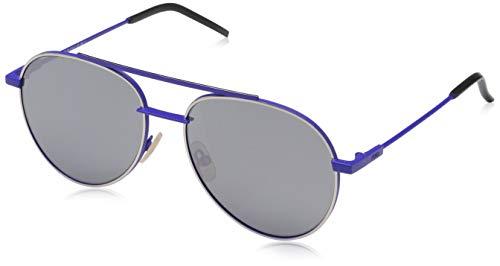 Fendi Herren FF 0222/S T4 PJP 56 Sonnenbrille, Blau (Bluette Grey)