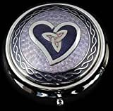 Pill Box in Celtic Trinity Heart Design. (Purple)