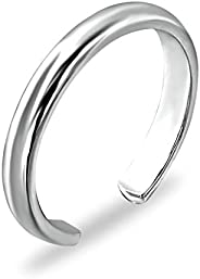 Sea of Ice Sterling Silver Polished Finish Adjustable Band Toe Ring