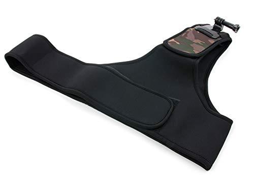 DURAGADGET Für APEMAN Trawo (A100), A79, A77, A80, A66, A60, A70 Action Cam: Schulter-Brustgurt