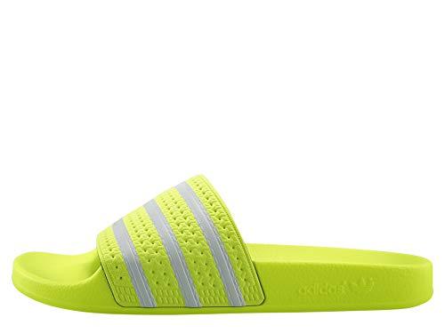 adidas Herren Adilette Aqua Schuhe, Mehrfarbig FTWR White/Solar Yellow Ee6182, 44 2/3 EU