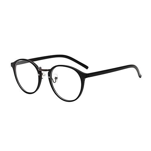 YEZIJIN Unisex Klassische Brille mit Metallrahmen, verspiegelt, abgerundet Free Size D