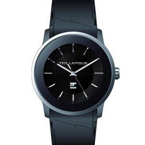 Ted Lapidus 5127802 - Reloj analógico de cuarzo para hombre, correa de cuero color negro