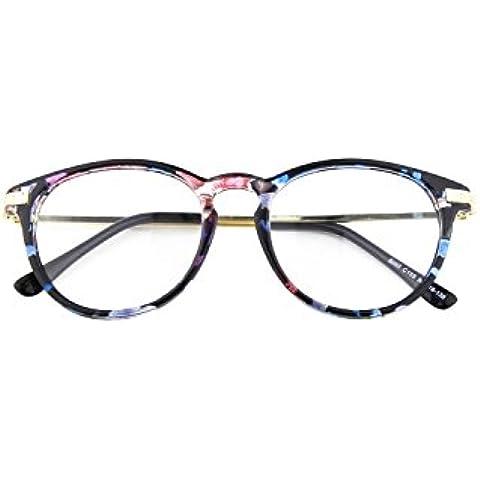 CGID CN92 Retro Clubmaster Wayfarer Anteojos Lente Claro Gafas Para Mujer y Hombre