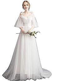 bdc704f49 Bangxiu Vestido de Novia Vestido de Dama de Honor de Boda para Mujer Vestido  de Novia