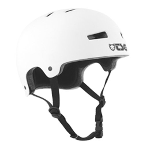 TSG Helm Evolution Solid Color, Weiß (Flat White ), L/XL, 75046