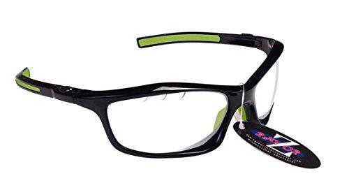 RayZor Professional leichte UV400schwarz Sports Wrap Cricket Sonnenbrille, mit Einem Vented Clear Blendfreie Objektiv
