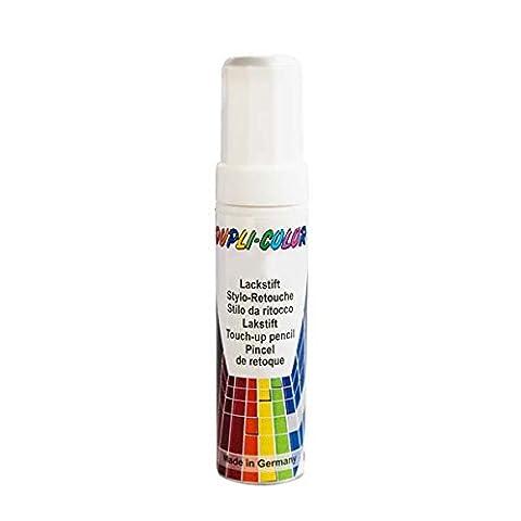 Duplicolor 598395 Stylo de Couleur pour Véhicule de Retouche Peinture AC DS 0-0500, Noir Mat, 12 ml