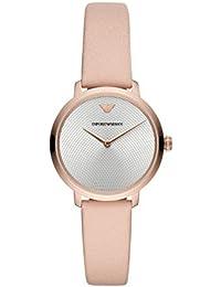 47c501ab14be Emporio Armani Reloj Analógico para Mujer de Cuarzo con Correa en Cuero  AR11160