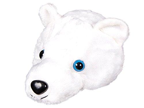 Alsino Weihnachtsmütze Nikolausmütze weißer 3D Eisbär (Kostüm Machen Eisbär)