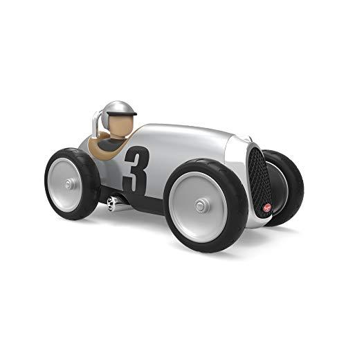 Baghera Spielzeugauto Silber | Retro Modellauto aus langlebigem ABS Kunststoff | Modell Rennwagen für Kinder ab 1 Jahr