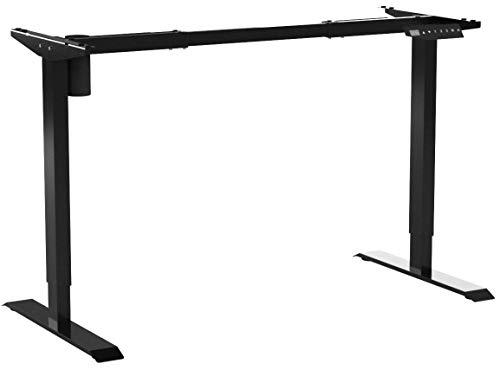 PUTORSEN® ES12B Höhenverstellbarer Schreibtisch Elektrisch höhenverstellbares Tischgestell 2-Fach-Teleskop, Ergonomischer Steh-Sitz Tisch mit Memory-Steuerung(Nur Rahmen - Schwarz)