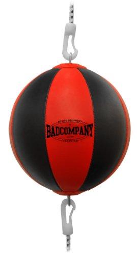 Profi PU Doppelendball schwarz / rot - Durchmesser ca. 38cm inkl. elastischen Spanngurten Test