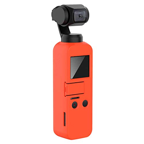 Skryo Für DJI OSMO Pocket Handheld Gimbal Silikon Schutzhülle (Orange) - Hand-held-gps-fall