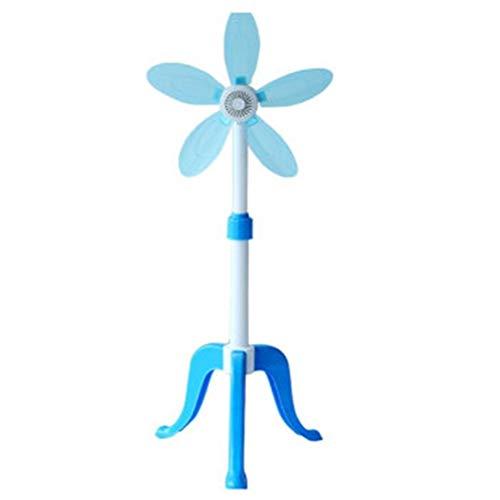 Fan Floor Type Einziehbarer elektrischer Ventilator Kleines vertikales Stativ-Bodenlüfterhaus Fünf Blätter ()
