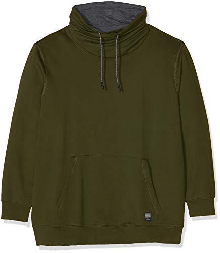 s.Oliver Big Size Herren 15.809.41.3481 Sweatshirt, Grün (Karst Plant 7845), XXXX-Large Big Tall Herren-sweatshirts
