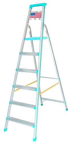 [SALE] Euro Pro Household Aluminium Step ladder 6 Steps - Made in USA - folding - Tool Tray - ABS Platform - Ultra Light Weight  available at amazon for Rs.5280