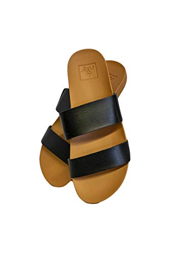 Reef Womens Sandals Vista   Vegan Leather Slides for Women With Cushion Bounce Footbed Womens Reef