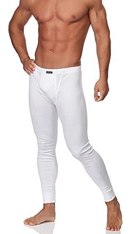 Sesto Senso Herren Lange Unterhose (Weiß, XXL)