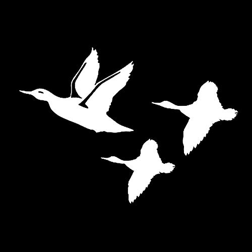 TANJINLOU Sport Auto Aufkleber Wasserdicht Sonnencreme Reflektierende Aufkleber 15 * 11 cm Ente Fliegen Auto Aufkleber Aufkleber Kreative Dekorative Vögel Jagd Wasservögel Motorrad Auto Aufkleber -