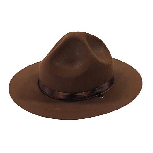 YIDAMY Ranger Hat - Brown Drill Sergeant Militär Kampagne Hut, L