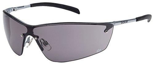 Schutzbrille bollé SILIUM, Sichtscheibe grau, Rahmen u. Bügel: Metall, EN 166
