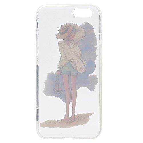 """Coque pour iPhone 6S / 6 , IJIA Ultra-mince Transparent Dream Girl été TPU Doux Silicone Bumper Case Cover Shell Housse Etui pour Apple iPhone 6S / 6 4.7"""" (TT18) TT13"""