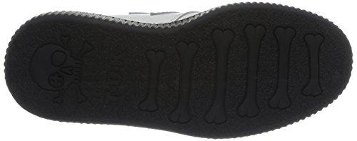 Tuk Low Sole Round Creeper, Damen Sneaker Blanc (bianco / Nero Interlacciato)