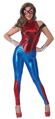 Marvel Spider Kostüm Girl - Rubie 's Offizielles Damen Marvel Spider-Girl Catsuit, Erwachsenen-Kostüm - Medium UK 12-14