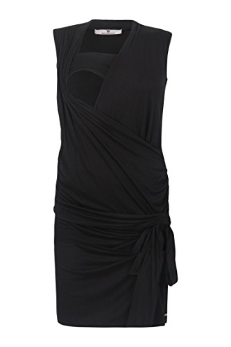 bellybutton Damen Umstandskleid Stillkleid O. Arm Schwarz (Black 1048)