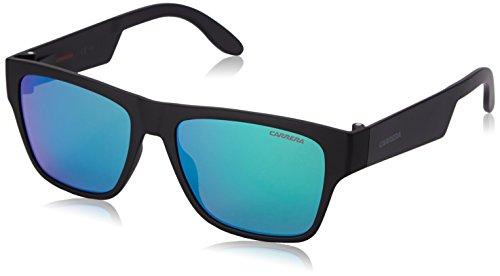 Carrera Herren 5002/ST Z9 DL5 Sonnenbrille, Schwarz (Matte Black/Green Multilaye), 55
